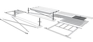 قطعات داربست چهارپایه